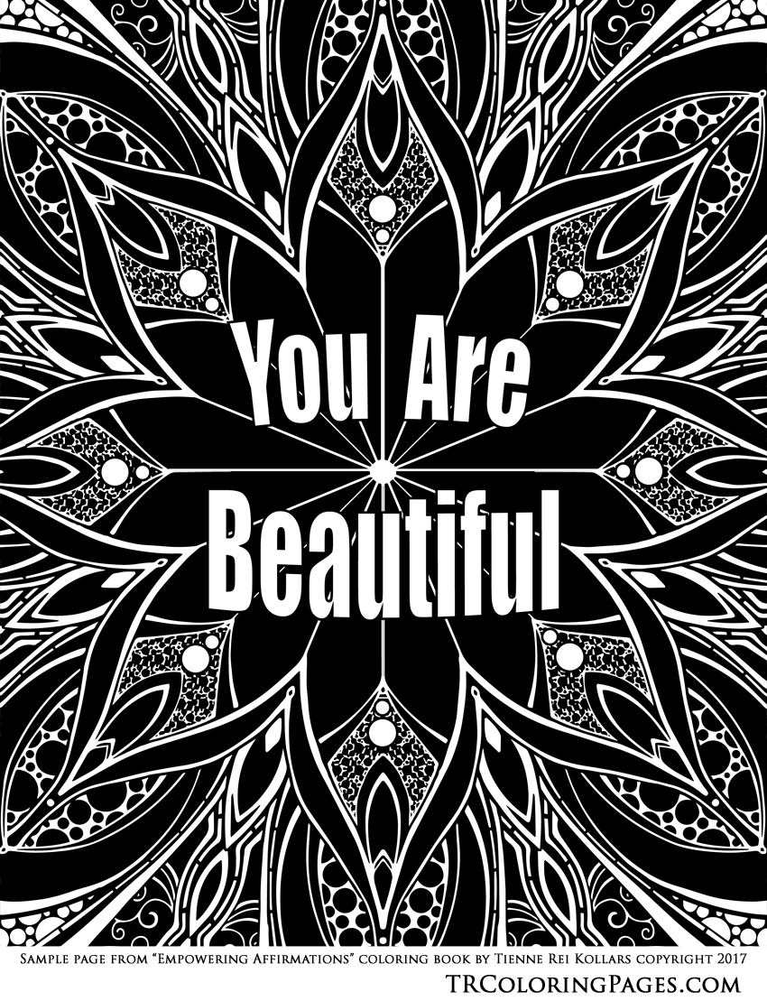 you are beautiful' free printable | tienne rei fine art