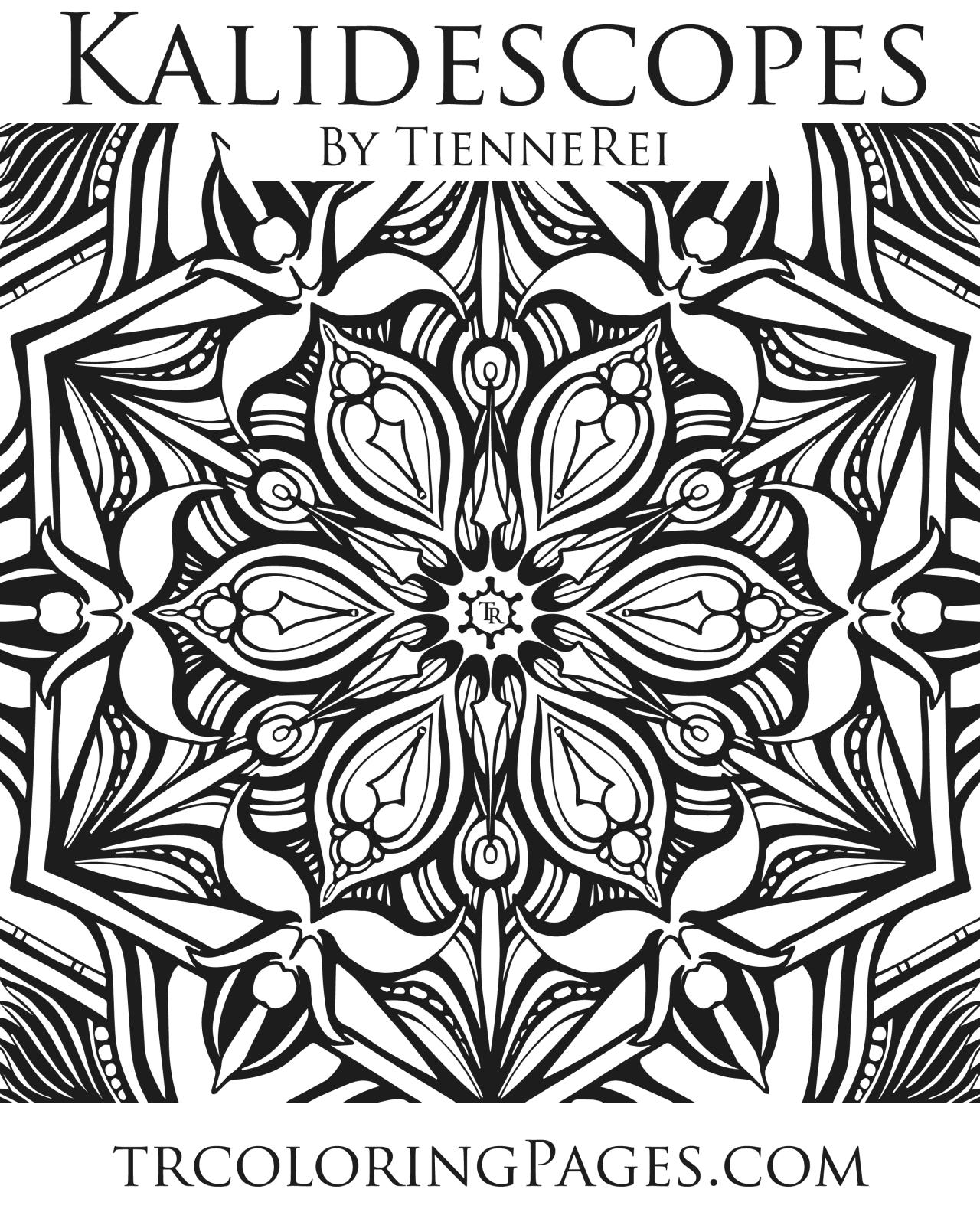 Kaleidoscope Coloring Page Tienne Rei Fine Art